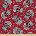 NCAA Ohio State Sugar Skull Cotton