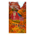 "Timeless Treasures Autumn Barn  24"" Panel Fall"