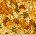 Timeless Treasures Metallic Autumn Palette Fall Trees Cream