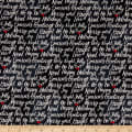 Timeless Treasures Let It Snow Happy Holiday Script Black