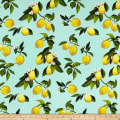 Telio Bloom Stretch Cotton Sateen Lemon Mint