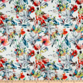 Telio Digital Stretch Scuba Floral Print White Multi