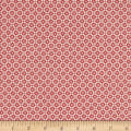 Stoffabric Denmark Quilters Basic Memory Quadrafoil White/Red
