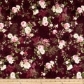 Stoffabric Denmark Juliet Roses Big Roses Wine