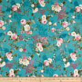 Stoffabric Denmark Juliet Roses Big Roses Turquoise