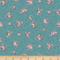 Stoffabric Denmark Juliet Roses Small Roses Turquoise