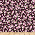 Stoffabric Denmark Juliet Roses Small Roses Wine