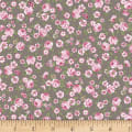 Stoffabric Denmark Juliet Roses Small Roses Taupe