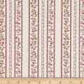Stoffabric Denmark Juliet Roses Border Stripes With Roses Cream