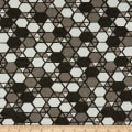 Stoffabric Denmark Vilma Hexagon & Triangle Grey