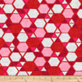 Stoffabric Denmark Vilma Hexagon & Triangle Red