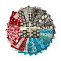 Stoffabric Denmark Vilma Fat Quarters 26 Pcs Multi