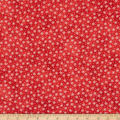 Northcott Bearly Xmas Small Snow Flake Red