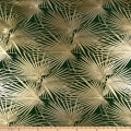 "112"" Wedding Table Top Palms Jacquard Hunter"