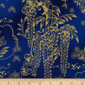Kaufman Imperial Collection Metallic 15 Wisteria Navy