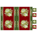 """Northcott Deck the Halls Placemat Panel 28"""" Red Multi"""