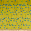 Elite Le Ciel Canvas Graphic Floral Cotton/Linen Canvas Yellow
