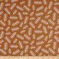 Elite Le Ciel Graphic Leaves Cotton/Linen Canvas Rust