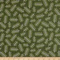 Elite Le Ciel Graphic Leaves Cotton/Linen Canvas Green
