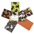 Fabric Editions Holiday Halloween Party Fat Quarter Bundle 5 Pcs