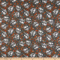 Fabric Editions Holiday Spooky Night Pumpkins Charcoal