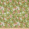 Fabric Editions Holiday Santa's Helpers Pines White