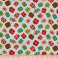 Fabric Editions Holiday Winter Woodland Presents White