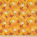 Fabric Editions Holiday Rustic Harvest Birds Gold