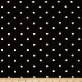 Telio Pebble Crepe Dots Black White