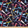Trans-Pacific Textiles Asian Origami and Chopsticks Black