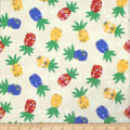 Trans-Pacific Textiles Hawaiian Tribal Pineapple Cream