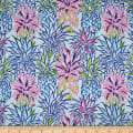 Trans-Pacific Textiles Hawaiian Colorful Pineapple Blue