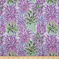 Trans-Pacific Textiles Hawaiian Colorful Pineapple Lavender