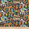 Trans-Pacific Textiles Conversational Hawaii Graffiti Black