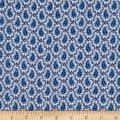 Italian Digital Print Cotton Navy/Blue/White