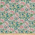 Numero 21 Italian Designer Digital Print Cotton White/Green/Pink