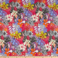 Swimwear Nylon Spandex Groovy Floral Pink/Yellow