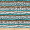 Swimwear Nylon Spandex Chevron Mint/Mocha