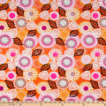 Swimwear Nylon Spandex Floral and Hearts Pink/Orange