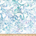 Hoffman Bali Batik Big Scroll Sky