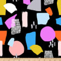 Ampersand Abstract Collage Abstract Shapes Bright Multi/Black