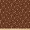 Paintbrush Studio Fabrics Hats for Cats Paw Prints Brown