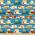 Paintbrush Studios Food Truck Food Truck Stripes Blue