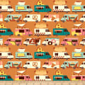 Paintbrush Studios Food Truck Food Truck Stripes Orange