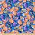 Paintbrush Studio Fabulous Flamingos Royal Blue Sea Shells