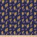 Paintbrush Studios Garden Glory Abstract Mushrooms Gold/Navy