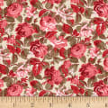 Wilmington Rhapsody In Reds Tonal Floral Ivory