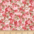 Wilmington Rhapsody In Reds Tonal Floral Light Pink