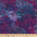Central Java Indonesian Batik Leaf Purple/Fuchsia/Turquoise