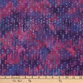 Central Java Indonesian Batik Star Burst Fuchsia/Purple
